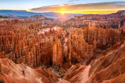sunrise over bryce canyon on women's active adventure trip