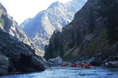 Rafting on the Salmon River in Idaho